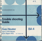 Trouble shooting Guide -BA4 gas heater - 1973